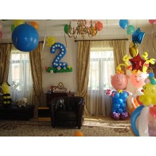 Фигуры из шаров и гелиевые шарики