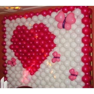 Панно из шаров на 14 февраля