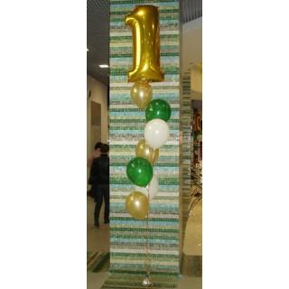 Гелиевые шары с фольгированной цифрой
