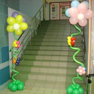 """Стойки из шаров """"Цветы"""""""