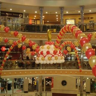 Оформление шарами торговых центров