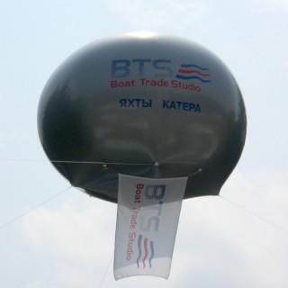 Печать логотипа на большом шаре