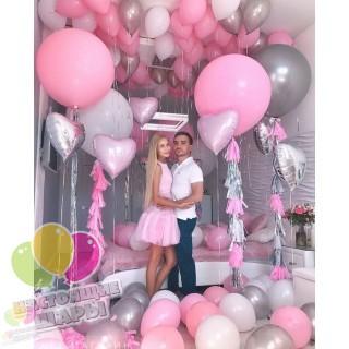 Оформление комнаты воздушными шарами