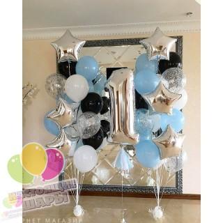 Фонтан из воздушных шаров 5