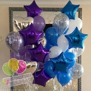 Фонтан из воздушных шаров 7