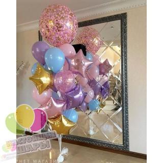Фонтан из воздушных шаров 9