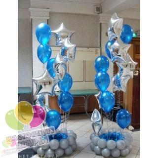 Новогодние стойки с шарами