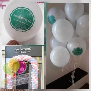 Украшение воздушными шарами на открытие магазина