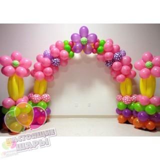 Нестандартная арка из шаров