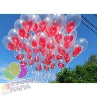 Сердца в шаре на 14 февраля