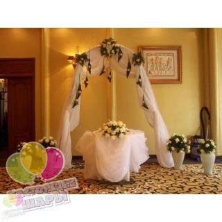 Арка из цветов на свадьбу