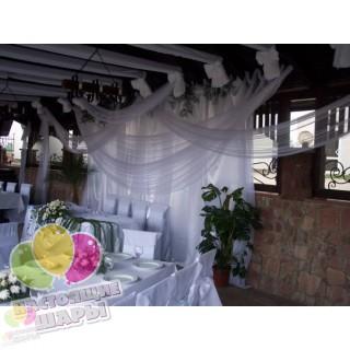Свадебное оформление тканью