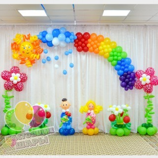 Украшение шарами детского сада