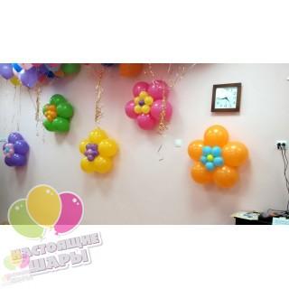 Цветочки из воздушных шаров