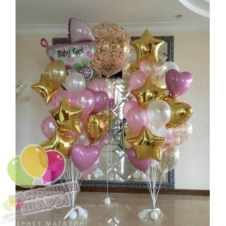 Воздушные шары на выписку из роддома 4